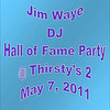 2011 Jim Waye Hall of Fame Party :