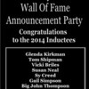 2014 THIRSTY'S 2 WALL OF FAME ANNOUNCEMENT PARTY :