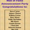 2015 Thirsty's 2 Wall of Fame Announcement Party :